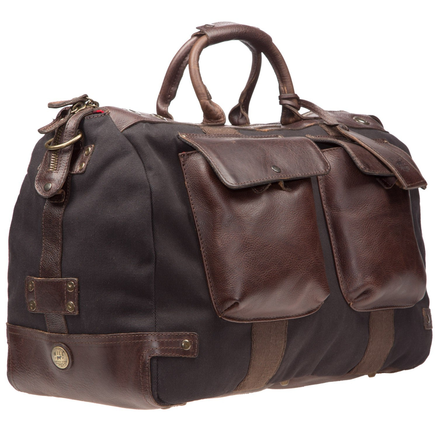 Will Leather Canvas Traveller Duffle Black / Brown