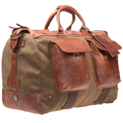 Will Leather Canvas Traveller Duffle Tobacco / Saddle