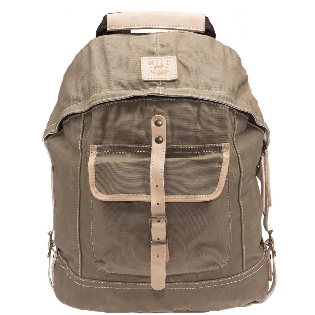 Will Leather Wax Coated Canvas Dome Backpack
