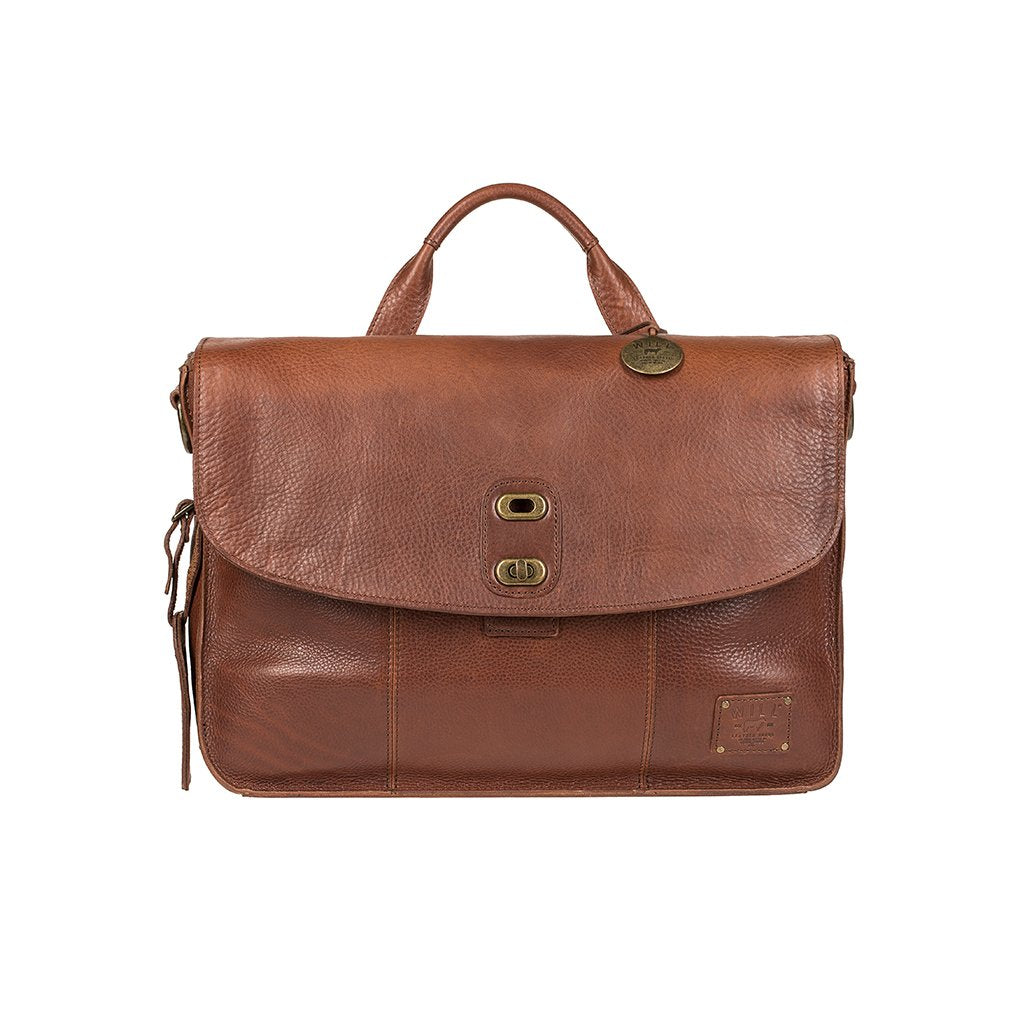 Will Leather Kent Messenger Bag Brown