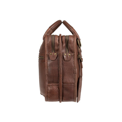 Will Leather Hank Satchel Brown
