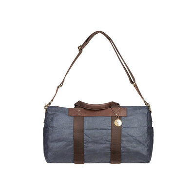 Will Leather Wax Coated Canvas Duffle Navy