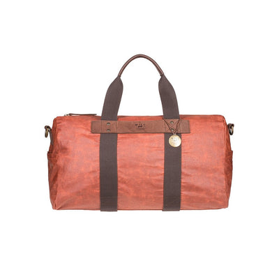 Will Leather Wax Coated Canvas Duffle Maroon