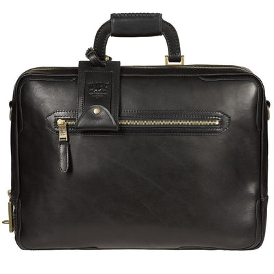 Will Leather Continental Briefcase Black