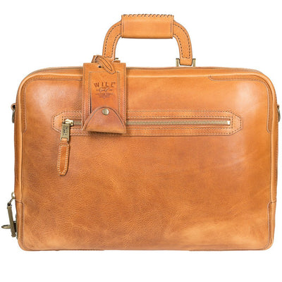 Will Leather Continental Briefcase Tan