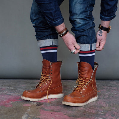 American Trench Kennedy Athletic Sock Navy