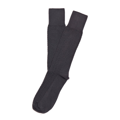 American Trench Textured Herringbone Supima Cotton Socks Charcoal