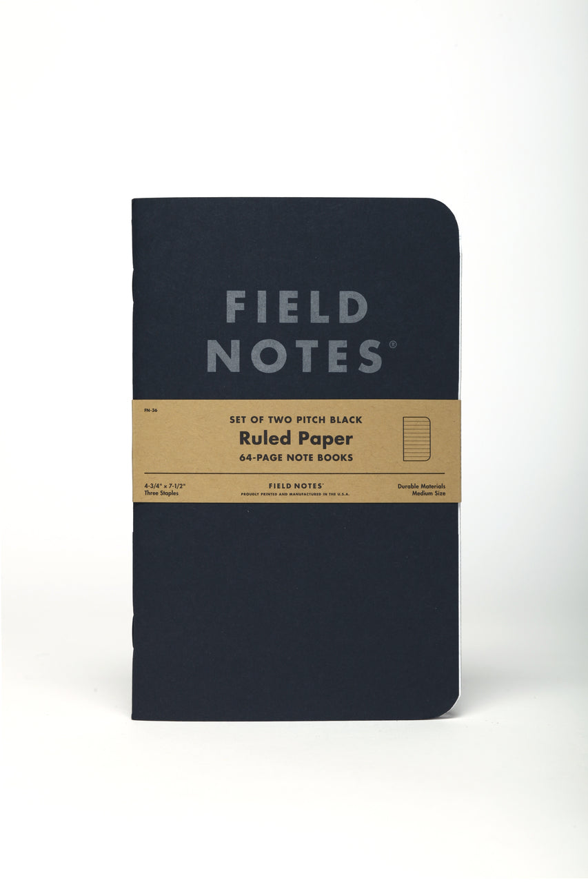 Field Notes Pitch Black Ruled 2 Pack