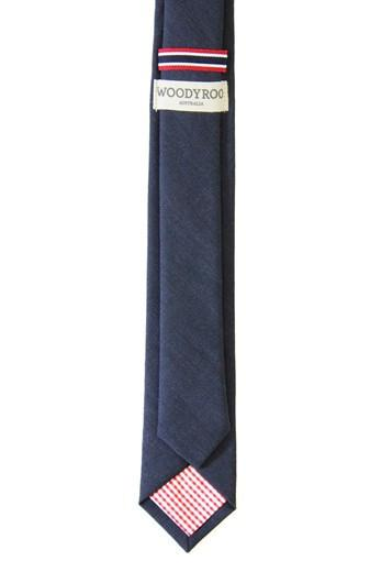 Woodyroo Navy Wool Tie