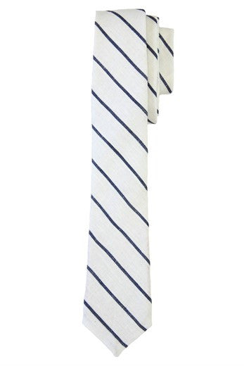 WoodyRoo White Stripe Tie