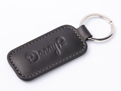 Danny P. Leather Keychain Black