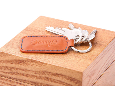 Danny P. Leather Keychain Tan