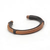 Maxx & Unicorn Leather Inlay Cuff Matte Black