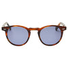Pacifico Optical Buckler - Burnt Oak with Blue Lens
