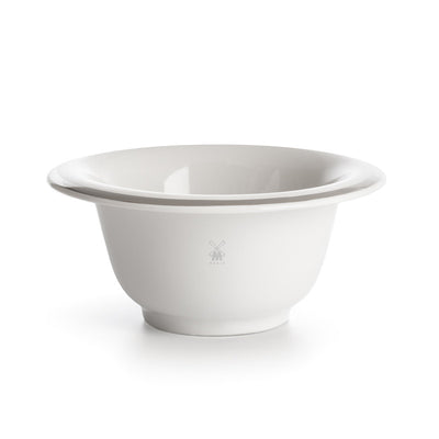Muhle Porcelain Shaving Bowl | Platinum Edge White