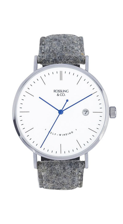 Rossling & Co. Classic Midnight Mesh 40mm Sterling