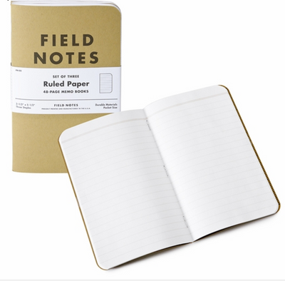 Field Notes Original Kraft Ruled 3 Pack