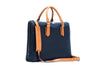 Stuart & Lau Constant Briefcase Navy and Tan