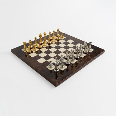 Italfama Walnut Briar Wood Chess Set