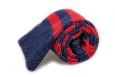 American Trench Rugby Stripes Socks Marine / Pomegranate