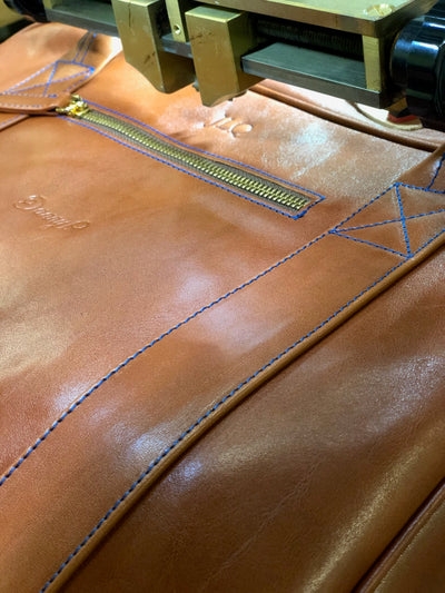 Danny P. Leather Messenger Bag