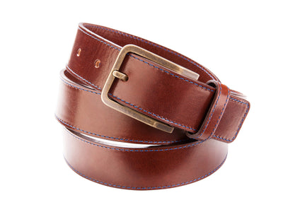 Danny P. Leather Belt Brown