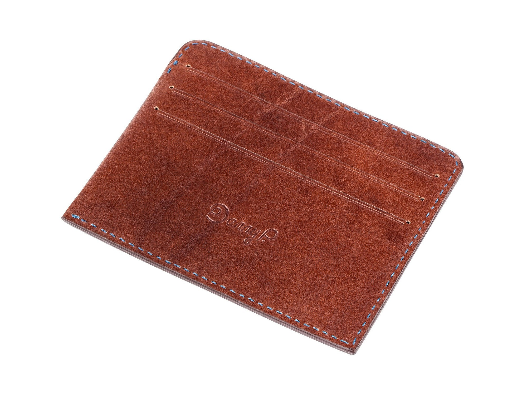 Danny P. Leather Card Wallet Brown