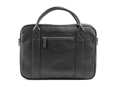 Danny P Leather Messenger Bag Black
