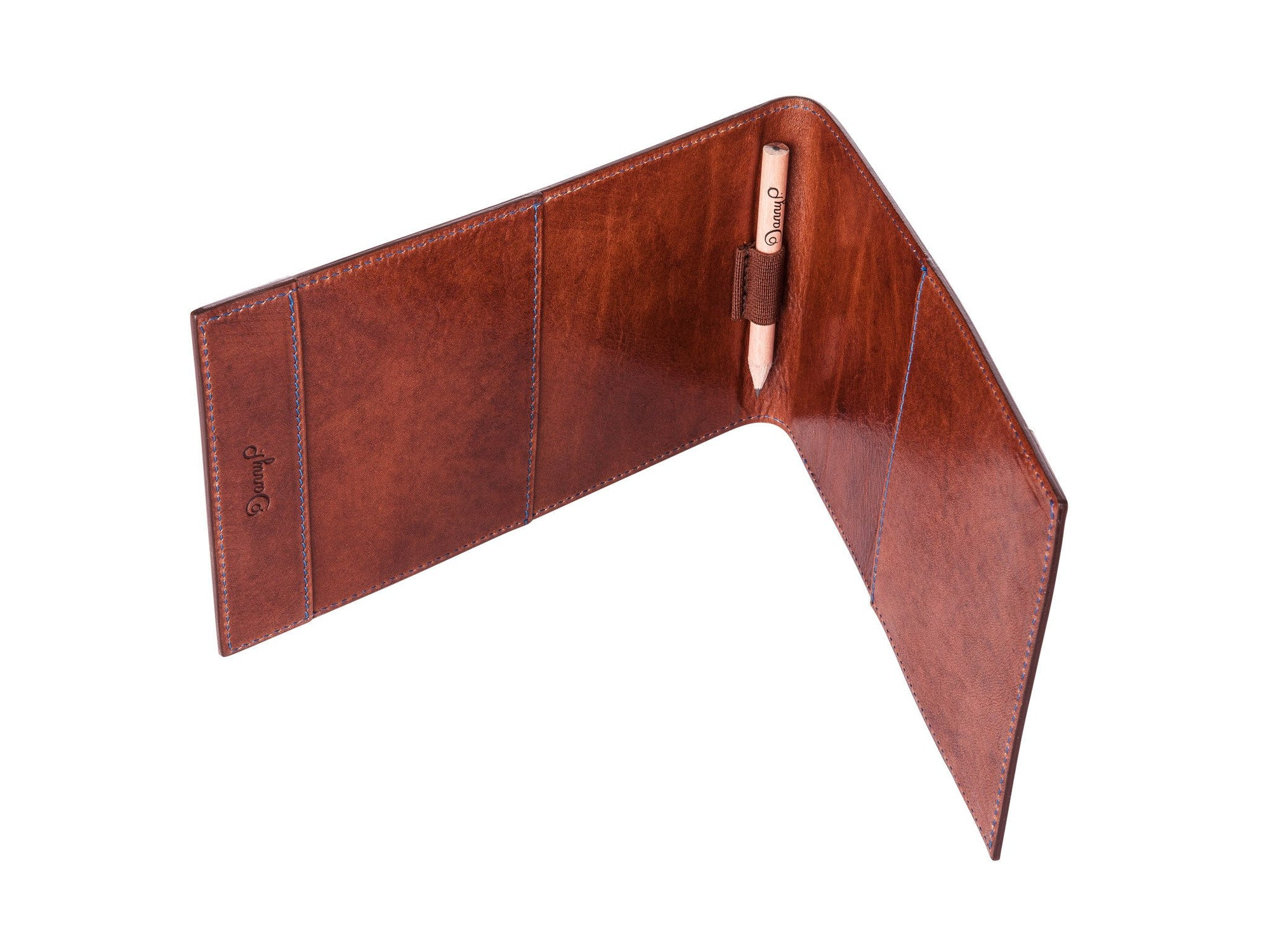 Danny P. Leather Golf Scorecard Holder Brown