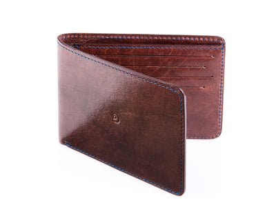 Danny P. Slim Leather Wallet Brown