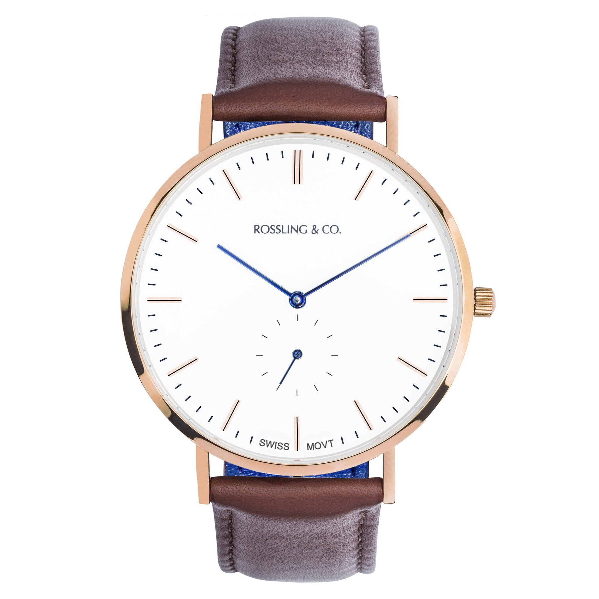 Rossling & Co. Classic Westhill 40mm Rose Gold