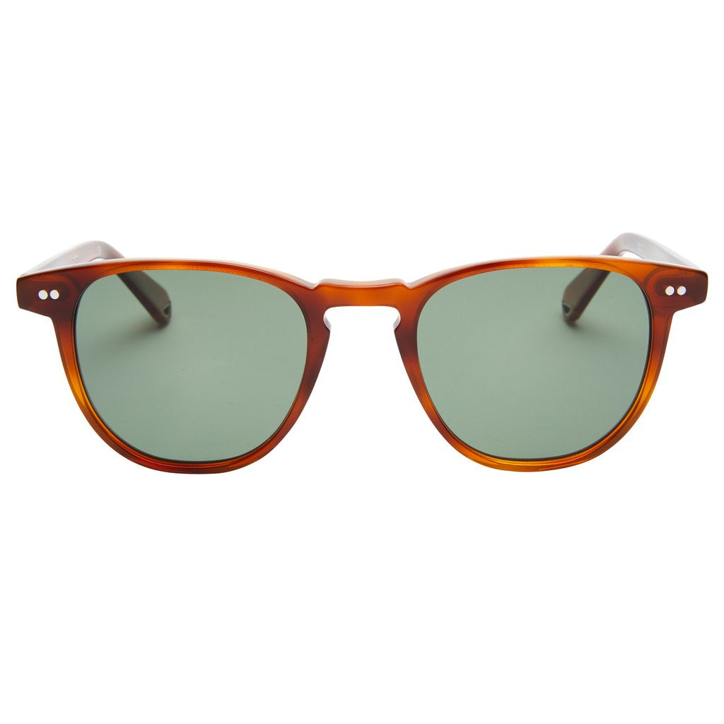 Pacifico Optical Campbell - Whiskey Havana with Polarised Green Lens