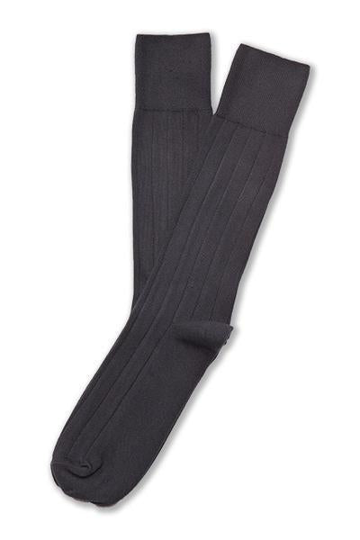 American Trench Supima Cotton Dress Rib Socks Charcoal