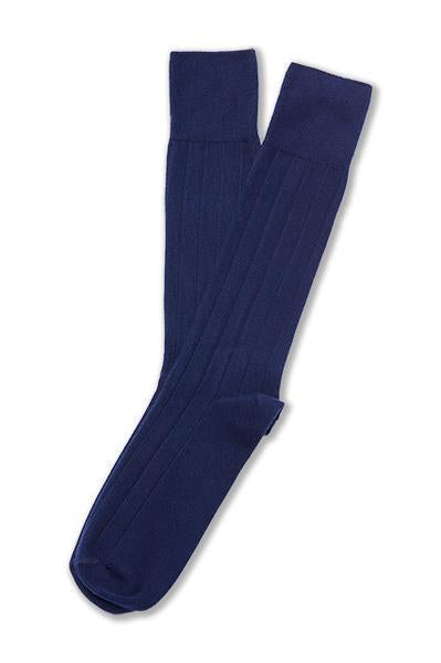 American Trench Supima Cotton Dress Rib Socks Navy