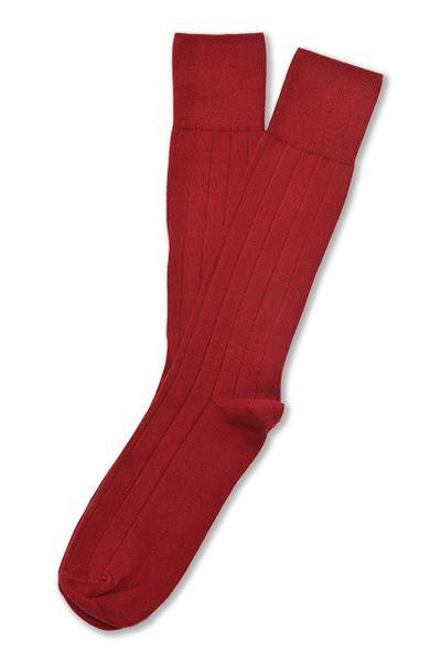 American Trench Supima Cotton Dress Rib Socks Red