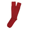 American Trench Textured Herringbone Supima Cotton Socks Cardinal