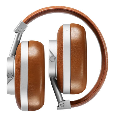 Master & Dynamic MH60 Over Ear Headphones Silver Metal / Brown Leather