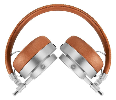 Master & Dynamic MH30 On Ear Headphones Silver Metal - Brown Leather
