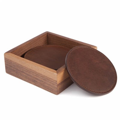 Moore & Giles Leather Coasters