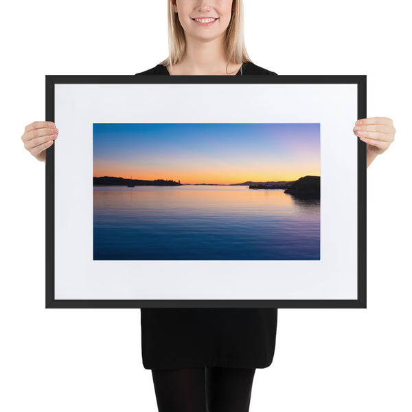 Inishbofin Sunset - Matte Paper Framed Poster With Mat