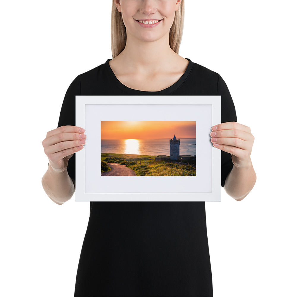 Doonagore Castle - Matte Paper Framed Poster With Mat