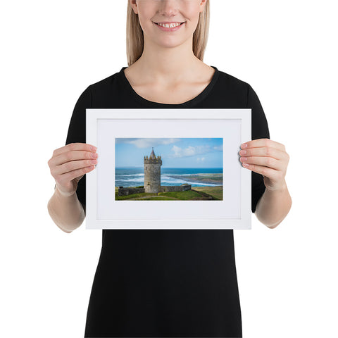 Doongore Castle II - Matte Paper Framed Poster With Mat