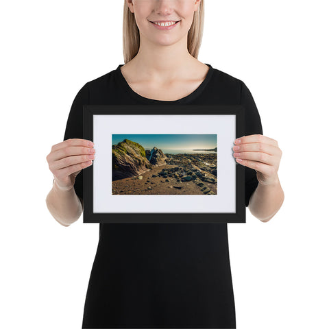 Rocky Coast - Matte Paper Framed Poster With Mat