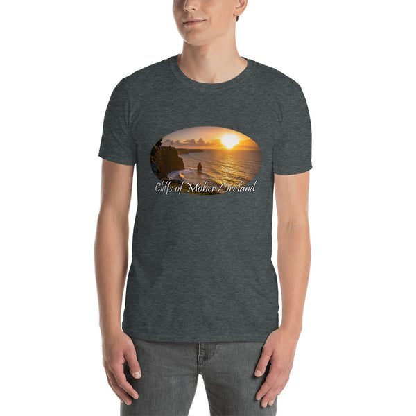 Cliff Sunset I - Short-Sleeve Unisex T-Shirt