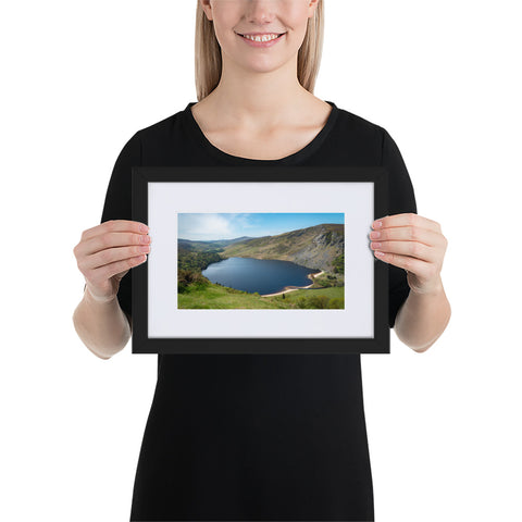 Lough Tay - Matte Paper Framed Poster With Mat