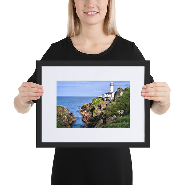 Fanad Head Lighthouse - Matte Paper Framed Poster With Mat