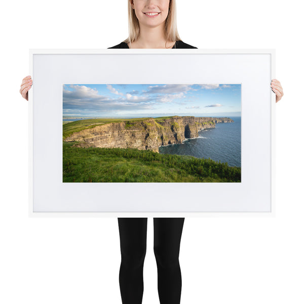 Cliffs of Moher - Matte Paper Framed Poster With Mat