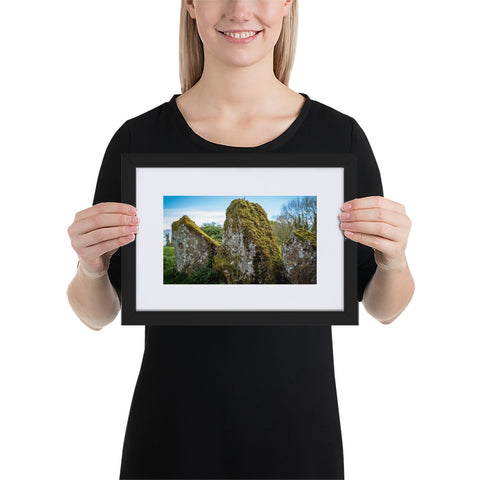 Megalith - Matte Paper Framed Poster With Mat