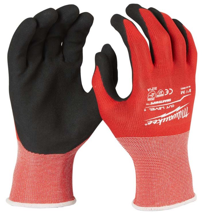 MILWAUKEE 4932471416 CUT LEVEL 1 DIPPED GLOVES - SIZE M