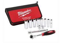 "Load image into Gallery viewer, MILWAUKEE 48229001 12PC 3/8"" DRIVE SOCKET SET - METRIC"